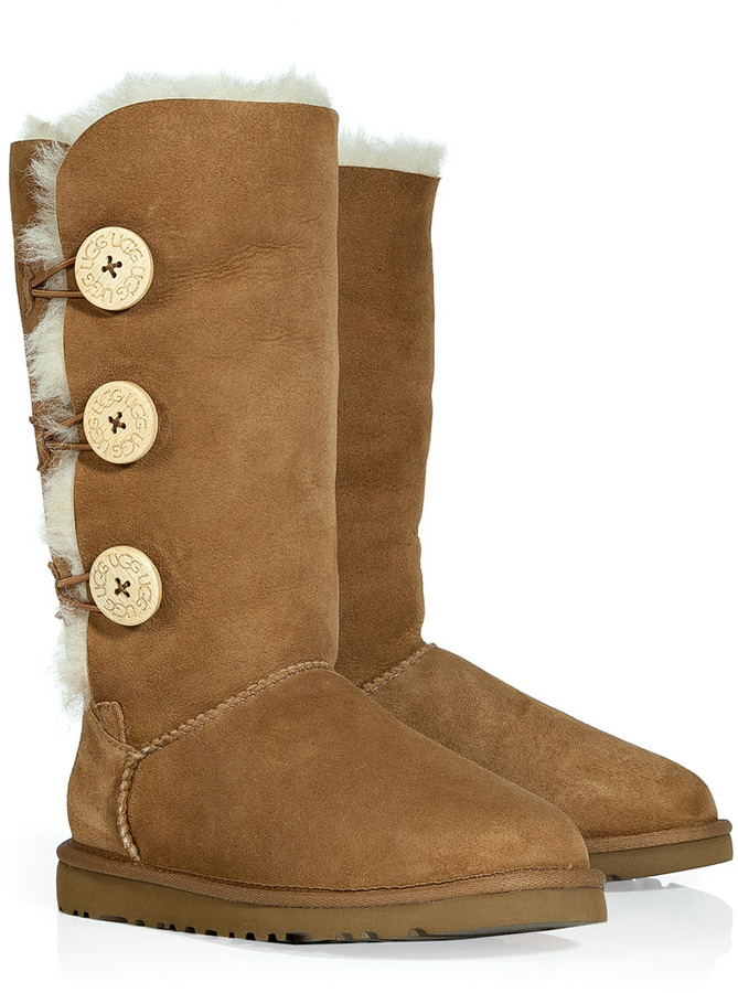 UGG Chestnut Bailey Button Triplet Boots