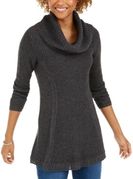 Style&Co. Style & Co Plus Size Cowlneck Tunic Sweater, Created for Macy's