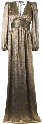 Rebecca Vallance Rivero pleated balloon-sleeved gown