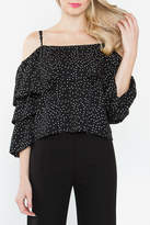 Sugar Lips Sugarlips Polka Dot Ruffle Top