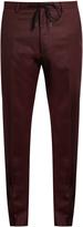 Kenzo Slim-leg wool-flannel trousers