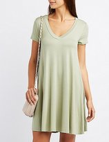 Charlotte Russe V-Neck Swing Dress