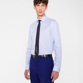 Paul Smith Men's Tailored-Fit Sky Blue Stripe 'Artist Stripe' Double-Cuff Shirt
