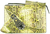 No.21 python skin effect clutch bag - women - Leather/Acrylic/metal/glass - One Size