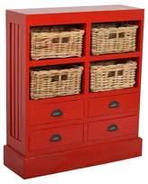 Jeffan Nantucket Storage Cabinet - Red