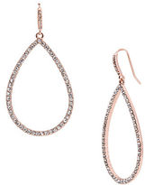 Lauren Ralph Lauren Pave Teardrop Hoop Pierced Earrings