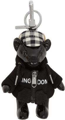 Burberry Black Leather Thomas Hoodie and Cap Keychain