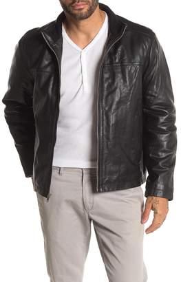 Bagatelle Funnel Neck Leather Jacket