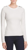 Karen Millen Button Cable Knit Sweater - 100% Bloomingdale's Exclusive