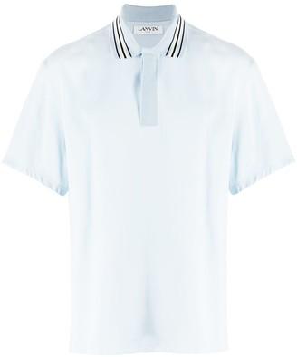Lanvin Striped Collar Polo Shirt