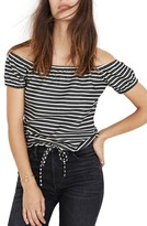 Madewell Women's Melody Stripe Off The Shoulder Top