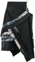 Martina Spetlova bonded leather strips skirt
