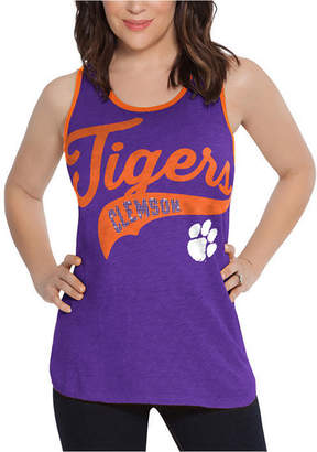 Touch by Alyssa Milano Women Clemson Tigers Tailsweep Colorblock Tank