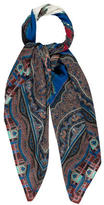 Etro Paisley Wool-Silk Shawl w/ Tags