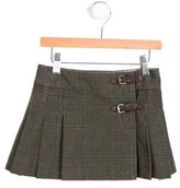 Bonpoint Girls' Pleated Houndstooth Skirt