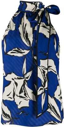 Veronica Beard Halterneck Sleeveless Blouse