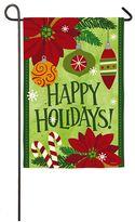 """Evergreen Happy Holidays"""" Indoor / Outdoor Garden Flag"""