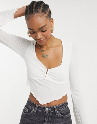 Steele Harleth Top in white