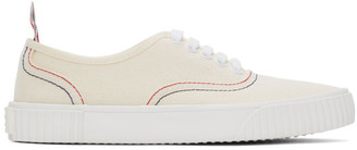 Thom Browne Off-White Heritage Vulcanized Sneakers
