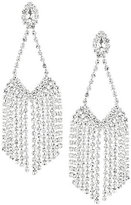 Cezanne Rhinestone Fringe Chandelier Statement Earrings