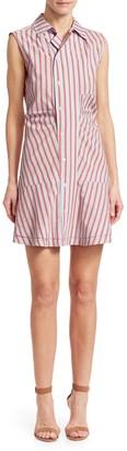 Derek Lam Ruched Sleeveless Poplin Mini Dress