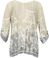 Izabel London *Izabel London Stone Star Print Smock Top