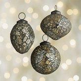 Crate & Barrel Mosaic Gold/Black Ornaments