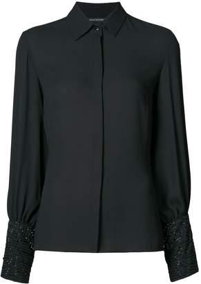 Josie Natori embellished sleeve shirt