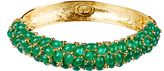 Kenneth Jay Lane Gold-Plated Emerald Gemstone Bracelet