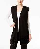 Alfani Faux-Fur-Trim Sweater Vest, Only at Macy's