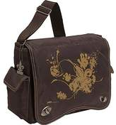 Kalencom Diaper Bag, Screened Chocolate Fleur De Lis by
