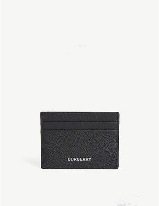 Burberry Sandon grained leather card holder