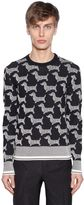 Thom Browne Dogs Cotton Jacquard Sweater