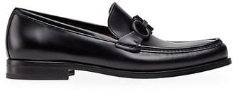 Salvatore Ferragamo Rolo 10 Leather Loafers