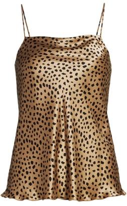 ATM Anthony Thomas Melillo Silk Charmeuse Cheetah Print Camisole