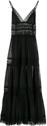 Charo Ruiz Ibiza Cindy crochet-trimmed maxi dress