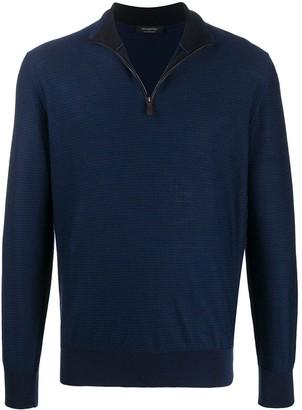 Ermenegildo Zegna Waffle Knit Zip Sweatshirt