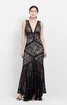 Nicole Miller Lace Trim Gown
