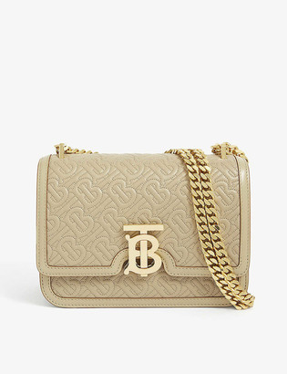 Burberry TB monogram small leather shoulder bag