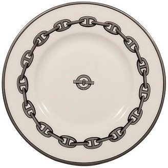 One Kings Lane Vintage Hermes Chaine d'Ancre Trays - Set of 2 - The Montecito Collection - white/silver