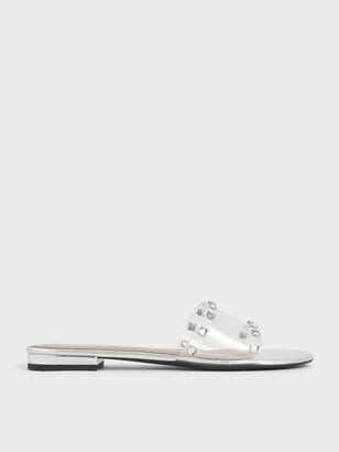 Charles & Keith Gem Embellished Slide Sandals
