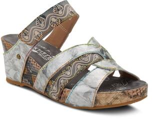 Pinriyo Wedge Slide Sandal