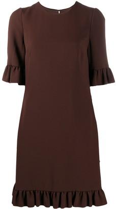 Dolce & Gabbana Ruffled-Edge Shift Dress