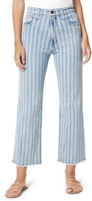 Joe's Jeans The Blake Stripe Fray Hem Crop Jeans