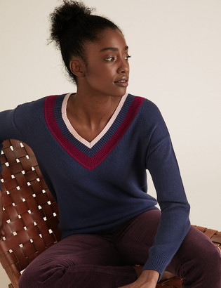Marks and Spencer Soft Touch V-Neck Relaxed Jumper