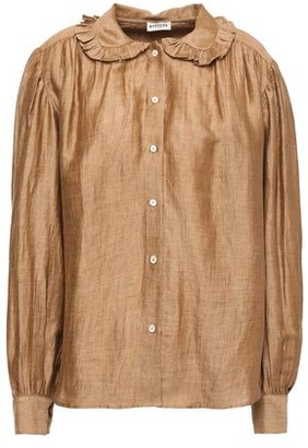 Masscob Berna Ruffle-trimmed Linen-blend Blouse
