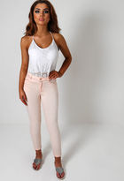 Pink Boutique Gelato Pink Skinny Jeans with Zip Detail