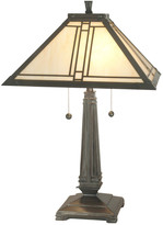 Dale Tiffany Lined Tiffany Mission Table Lamp