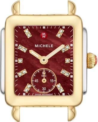 Michele Deco Mid Diamond Dial Watch Head, 29mm x 31mm