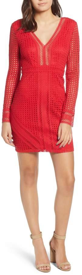 ASTR the Label Mesh Body-Con Dress